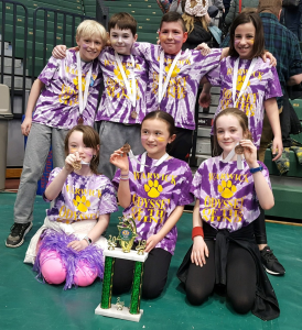 Park Avenue Elementary Odyssey of the Mind team