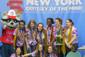 Middle School team places first in NYS Odyssey of the Mind; advances to World Competition