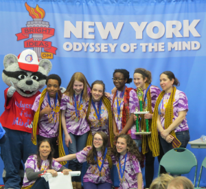 Warwick Middle School's first place Odyssey of the Mind team