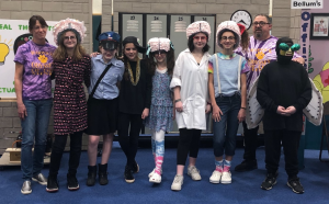 Warwick Valley Middle School Odyssey of the Mind fourth-place team