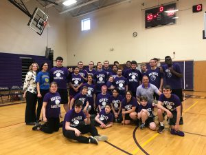 Group photo of the unified basketball team