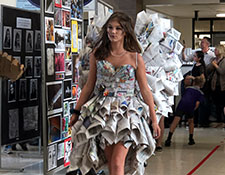 Newspaper dress at WVCSD STEAM Fair 2019