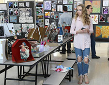 Art exhibits at the WVCSD annual STEAM Fair & art show