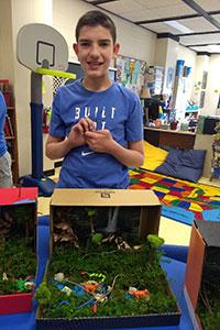 MS Gold team student created a rainforest diorama - 1