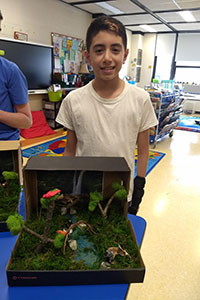 MS Gold team student created a rainforest diorama - 2