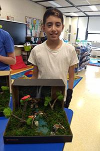 MS Gold team student created a rainforest diorama - 2