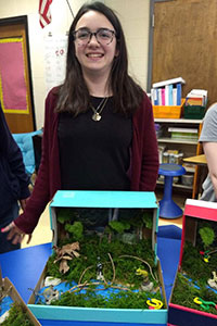 MS Gold team student created a rainforest diorama - 4