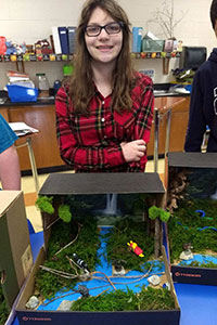 MS Gold team student created a rainforest diorama - 5
