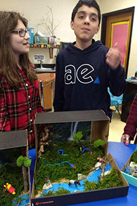 MS Gold team student created a rainforest diorama - 6