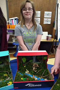 MS Gold team student created a rainforest diorama - 7