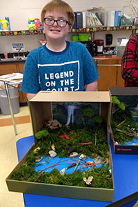 MS Gold team student created a rainforest diorama - 8