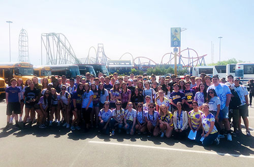 WVHS Physics classes visited Six Flags Great Adventure