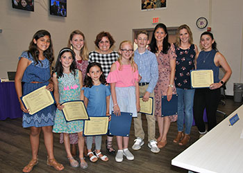 Student recipients of the WVCSD 2019 Superintendent's Art Awards with district art teachers