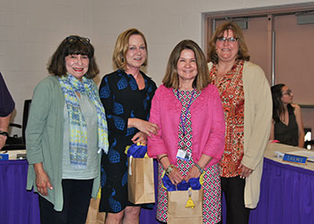 Pictured: Sanfordville Elementary 2019 retirees (L-R) Annette Greco-Sanchez, Kathy Frazier, Susan Bonetti with SES Principal, Ms. Johnna Maraia
