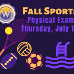 Promotional image for fall sports physical exams
