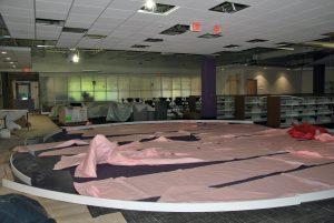 middle school media center under construction
