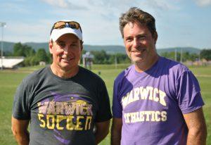 Head Coach Denis O'Connor (right) replaces 21-year veteran Coach John VanPelt (left).