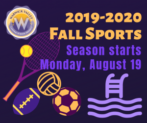 Branded image announcing the start of the fall sports season