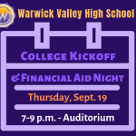 College Kick-Off & Financial Aid Night, Thursday, Sept. 19
