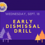 Early dismissal drill Wednesday, Sept. 18