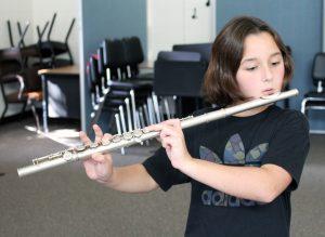 Lorenza Brennie with her flute