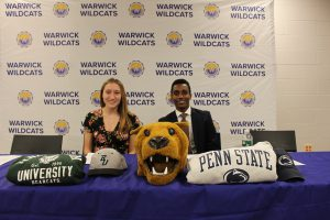 Two seniors sign letters of intent to pursue collegiate athletics