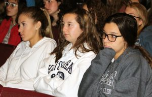 Students listening to motiivational speaker Billy Keenan
