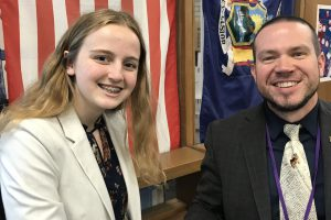 Junior Cara Peddle wins People's Party nomination during Youth in Government event
