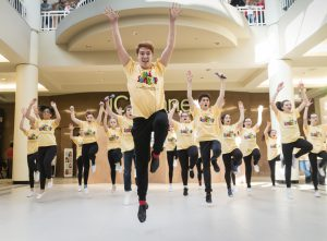 """Warwick Valley High School students perform a song from """"All Shook Up"""" during the Orange County Arts Council's All-County High School Musical Showcase and Arts Display at the Galleria at Crystal Run on Feb. 27, 2016."""