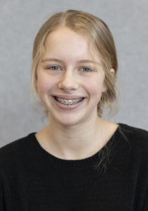 Warwick Valley Middle School eighth grader Zoe Link poses for a portrait.