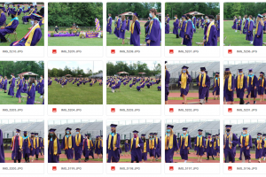 Browse and download photos from ALL small graduation ceremonies