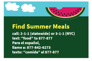 Summer meals available for kids and teens