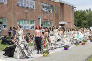 WVHS holds Newspaper Fashion Show