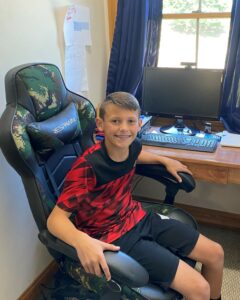 Superintendent's Spotlight student James Schipper at home